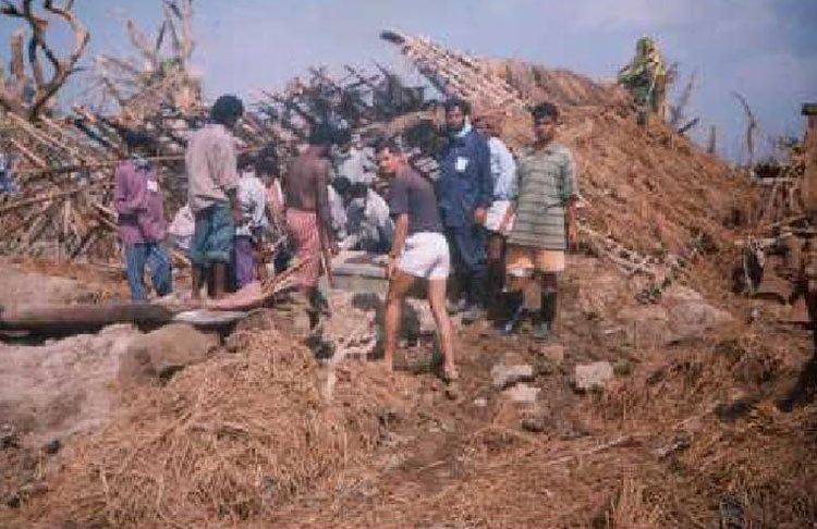 Relief Work In Orissa After Cyclone In 2000
